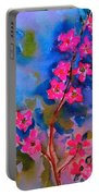 Watercolor Flowers Portable Battery Charger