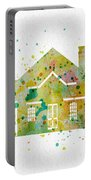 Watercolor House  Portable Battery Charger