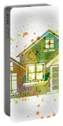 Watercolor Houses Portable Battery Charger