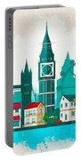 Watercolor Illustration Of London Portable Battery Charger