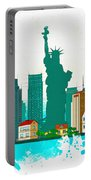 Watercolor Illustration Of New York Portable Battery Charger