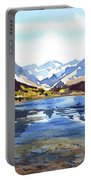Watercolor Lake Reflection Portable Battery Charger