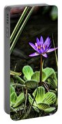 Watercolor Lily Portable Battery Charger