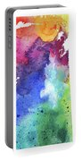Watercolor Map Of Saskatchewan, Canada In Rainbow Colors  Portable Battery Charger