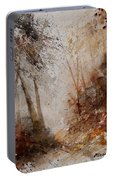 Watercolor Misty Path Portable Battery Charger