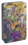 Watercolor- Monarchs In Flight Portable Battery Charger