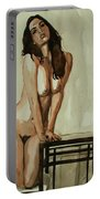 Watercolor Nude 1 Portable Battery Charger