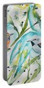 Watercolor - Ornate Antwren In The Bamboo Portable Battery Charger
