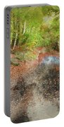 Watercolor Painting Of Beautiful Landscape Image Of Forest Covered In Autumn Fall Color Contrasting  Portable Battery Charger