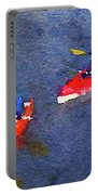 Watercolor Painting Of Two Canoes Portable Battery Charger