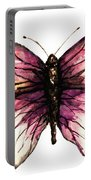 Watercolor Pink Butterfly Portable Battery Charger