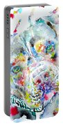Watercolor Pit Bull.2 Portable Battery Charger