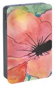 Watercolor Poppy Portable Battery Charger