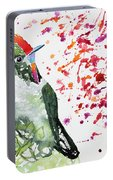 Watercolor - Rainbow Bearded Thornbill Portable Battery Charger