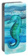 Watercolor Saehorse Portable Battery Charger