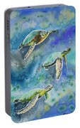 Watercolor - Sea Turtles Swimming Portable Battery Charger