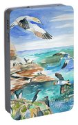 Watercolor - Seabirds Of The North Atlantic Portable Battery Charger