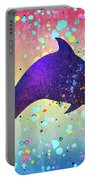 Watercolor Silhouette - Dolphin  Porpoise Portable Battery Charger