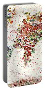 Watercolor Splashes World Map 2 Portable Battery Charger