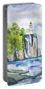 Watercolor - Split Rock Lighthouse Portable Battery Charger