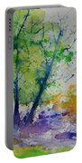 Watercolor Spring 2016 Portable Battery Charger