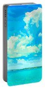 Watercolor Spring On Sarasota Bay Portable Battery Charger