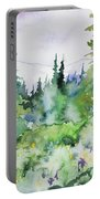 Watercolor - Summer In The Rockies Portable Battery Charger