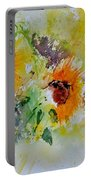 Watercolor Sunflowers Portable Battery Charger