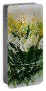 Watercolor Tulips Portable Battery Charger