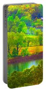 Watercolor View Portable Battery Charger