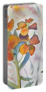 Watercolor - Wallflower Wildflowers Portable Battery Charger