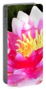 Watercolor Waterlily Portable Battery Charger