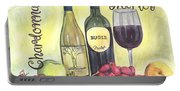 Watercolor Wine Portable Battery Charger