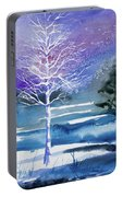 Watercolor - Winter Aspen Portable Battery Charger