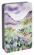 Watercolor - Yankee Boy Basin Landscape Portable Battery Charger
