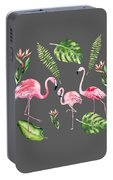 Watercolour Flamingo Family Portable Battery Charger