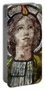 Watercolour Painting Of Stained Glass Religious Window In Church Portable Battery Charger