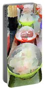 Watercolour Painting Of Sushi Dishes On The Belt Portable Battery Charger