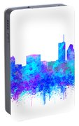 Watercolour Splashes And Dripping Effect Chicago Skyline Portable Battery Charger