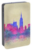 Watercolour Splashes New York City Skylines Portable Battery Charger