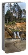 Waterfall At Hug Point State Park Oregon Portable Battery Charger