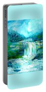 Waterfall At Pont Espagna Portable Battery Charger