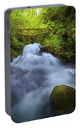 Waterfall At Shepperds Dell Falls Portable Battery Charger