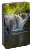Waterfall At Sweet Creek Hiking Trail Complex Portable Battery Charger