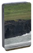Waterfall At The Cliffs Of Moher Portable Battery Charger