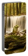 Waterfall At The Ruins Portable Battery Charger