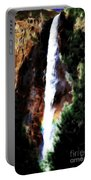 Waterfall At Yosemite Portable Battery Charger