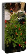 Waterfall Flowers Portable Battery Charger