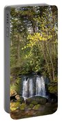 Waterfall In A Park, Whatcom Creek Portable Battery Charger