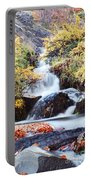 Waterfall In Autumn Portable Battery Charger